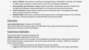 Sample Skills Resume for Highschool Students Resume Skills for High School Students with Examples