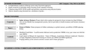 Sample Summary for Resume for Freshers Sample Resume Fresher