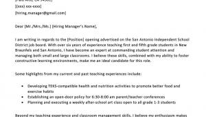 Sample Teacher Resume and Cover Letter Elementary Teacher Cover Letter Example & Writing Tips