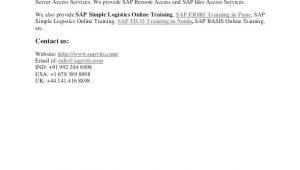 Sap S4 Hana Simple Logistics Sample Resume Sap S4 Hana Simple Logistics Pdf