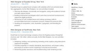 Web Developer Resume Sample for Freshers 19 Free Web Designer Resume Examples & Guide Pdf 2020